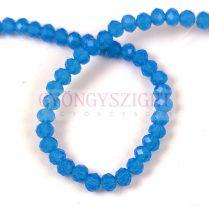 Csiszolt fánk gyöngy - Opal Sapphire - 3x4mm - szálon