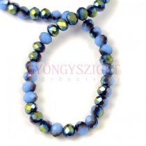 Csiszolt fánk gyöngy - Light Sapphire Metallic Green Iris - 3x4mm - szálon
