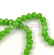 Csiszolt fánk gyöngy - Green Pea - 3x4mm - szálon