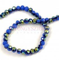 Csiszolt fánk gyöngy - Sapphire Metallic Green Iris - 3x4mm - szálon