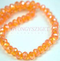 Csiszolt fánk gyöngy - Orange AB - 5x6mm - szálon