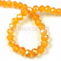 Csiszolt fánk gyöngy - Tangerine AB - 5x6mm - szálon
