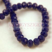 Csiszolt fánk gyöngy - Dark Sapphire - 5x6mm - szálon