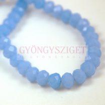Csiszolt fánk gyöngy - Light Sapphire - 5x6mm - szálon