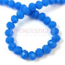 Csiszolt fánk gyöngy - Carribian Blue Opal - 5x6mm - szálon