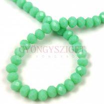 Csiszolt fánk gyöngy - Turquoise Green - 5x6mm - szálon