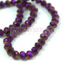 Csiszolt fánk gyöngy - Metallic Violet Iris - 6x8mm - szálon