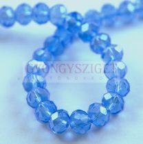 Csiszolt fánk gyöngy - Light Sapphire - 6x8mm - szálon