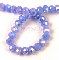 Csiszolt fánk gyöngy - Light Sapphire AB - 6x8mm - szálon