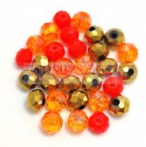 Csiszolt fánk gyöngy mix - 008 - 5x6mm
