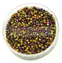 Miyuki Delica Japanese Seed Bead  size : 11/0 - 0029 Metallic Purple Gold Iris