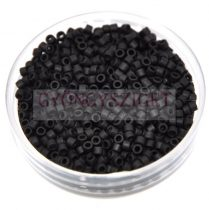 Miyuki delica gyöngy 0310 - matt fekete - 10/0