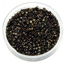 Miyuki Delica Japanese Seed Bead  size : 11/0 - 0007 Metallic Brown Iris