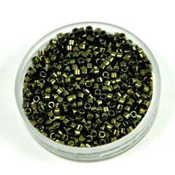 Miyuki delica gyöngy 0011 - metál sötét oliva - 11/0