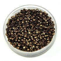 Miyuki Delica Japanese Seed Bead size : 11/0 - 0022 Metallic Dark Bronze 20g