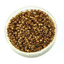Miyuki Delica Japanese Seed Bead size : 11/0 - 0022L Metallic lt Bronze 20g