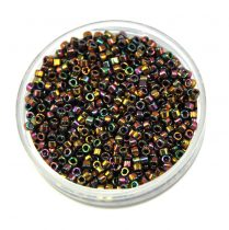 Miyuki Delica Japanese Seed Bead  size : 11/0 - 0023 Metallic Gold Iris