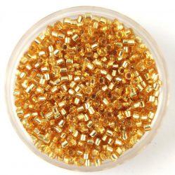Miyuki delica gyöngy 0042 - ezüst közepű arany - 11/0