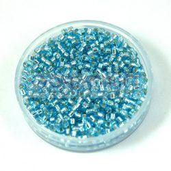Miyuki delica gyöngy 0044 - ezüst közepű aqua - 11/0