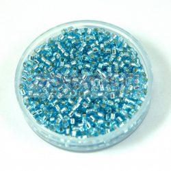Miyuki Delica Japanese Seed Bead  size : 11/0 - 0044 Silver Lined Aqua