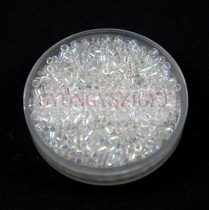 Miyuki Delica Japanese Seed Bead  size : 11/0 - 0051 Crystal AB 20g