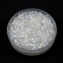 Miyuki Delica Japanese Seed Bead  size : 11/0 - 0051 Crystal AB