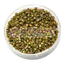 Miyuki delica gyöngy 0133 - arany lüszteres szivárvány oliva - 11/0 - 20g-AKCIOS