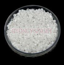 Miyuki delica gyöngy 0200 - fehér - 11/0 - 20g-AKCIOS