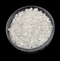 Miyuki Delica Japanese Seed Bead size : 11/0 - 0202 LusteRed White AB 20g