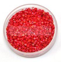 Miyuki delica gyöngy 0214 - telt piros ab - 20g-AKCIOS