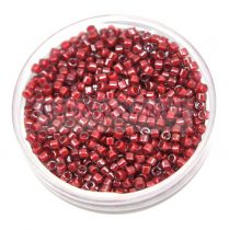 Miyuki Delica Japanese Seed Bead size : 11/0 - 0280 cranberry Lined Crystal luster 20g