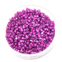 Miyuki Delica Japanese Seed Bead  size : 11/0 - 0281 Fuchsia Lined Crystal Luster