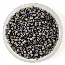 Miyuki Delica Japanese Seed Bead  size : 11/0 - 0307 Matte Metallic Silver Gray