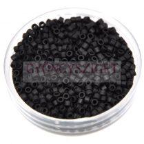 Miyuki delica gyöngy 0310 - Opaque Black Matt - 11/0 - 20g-AKCIOS