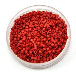 Miyuki delica gyöngy 0378 - Matte Lustered Dark Red - 11/0