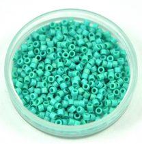 Miyuki delica gyöngy 0878 - Matte Opaque Turquoise Green AB - 11/0