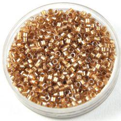 Miyuki delica gyöngy 0907 - Sparkling Light Bronze Lined Crystal - 11/0