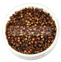 Miyuki delica gyöngy 1051 - matt sötét réz - 11/0 - 10g-AKCIOS