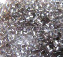 Miyuki delica gyöngy 1772 - fényes ezüstszürke közepű kristály