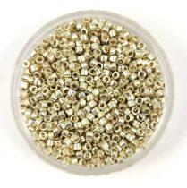 Miyuki delica gyöngy 1831 - galvanizált ezüst tartós bevonattal - 11/0 - 20g-AKCIOS