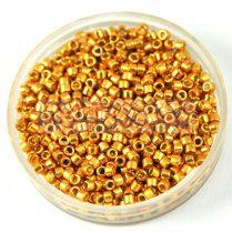 Miyuki delica gyöngy 1832 - galvanizált élénk arany tartós bevonattal - 11/0 - 20g-AKCIOS