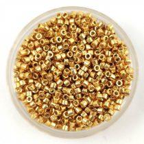 Miyuki delica gyöngy 1832 - galvanizált élénk arany tartós bevonattal - 11/0