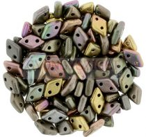 Diamond gyöngy - kétlyukú - Matte Metallic Violet Iris  - 4x6mm