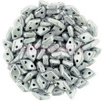 Diamond gyöngy - kétlyukú - Aluminium - 4x6mm