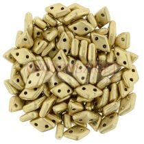 Diamond gyöngy - kétlyukú – Aztec Gold - 4x6mm