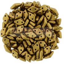 Diamond gyöngy - kétlyukú - Matte Metallic Antique Gold - 4x6mm