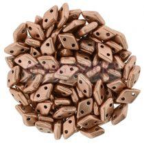 Diamond gyöngy - kétlyukú - Matte Metallic Copper - 4x6mm