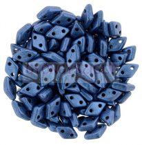 Diamond gyöngy - kétlyukú - Matte Metallic Blue - 4x6mm