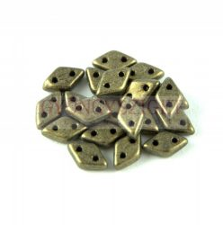 Diamond gyöngy - kétlyukú - Matte Metallic Clay - 4x6mm