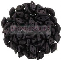 Diamond gyöngy - kétlyukú - Matte Metallic Plum  - 4x6mm